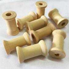20pcs Handmade DIY Wooden Empty Thread Spools Reels Bobbins for Sewing Ribbons