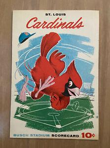 VINTAGE 1960 SAN FRANCISCO GIANTS @ ST LOUIS CARDINALS SCORECARD PROGRAM
