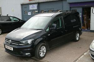 VOLKSWAGEN VW CADDY MAXI 2011 - 2020 ALUMINIUM ROOF RAIL BARS BLACK COLOUR *NEW*