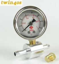 Weber Dellorto fuel pressure gauge adaptor kit 0-15psi carb carburettor systems