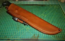 Ka-bar/ Becker BK9, Custom Leather Belt Sheath USA Made RH + Ferro Rod, No Knife