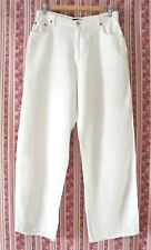 * WITCHERY * Sz 12-14 white salt LINEN Nina Proudman holiday summer pants!