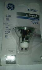 G.E. flood light bulb 35 watt 120v mr16 GU10 120 volt 35w upc 043168167529200 GE