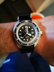 COOPER SUBMASTER STEEL FINISH ROYAL NAVY MILITARY DIVER WATCH SM8016ST