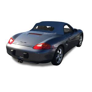 Porsche Boxster 1997-02 Convertible Soft Top & Heated Glass Window Blue German