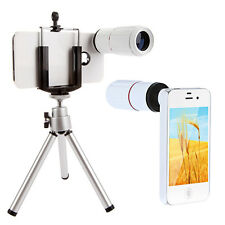 8x Magnification Telescope Camera Lens + Tripod + Case For Apple iPhone 4 4S US