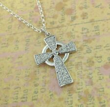 Sterling Silver Irish Celtic Cross with Czs Made in Ireland by Fado