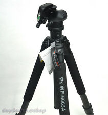 WF-6663A Professional Digital DSLR camera Aluminium Tripod for Nikon Canon sony