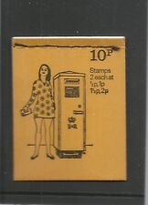 Great Britain Booklet 10p December 1972 British Pillar Boxes N 6  Mint