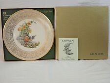 VINTAGE LENOX BOEHM BIRDS LIMITED EDITION COLLECTOR PLATE 1977 ROBIN