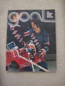 1975 NHL NEW YORK RANGERS v PHILADELPHIA FLYERS PROGRAM.DUNC WILSON.BOBBY CLARKE