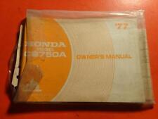 NOS OEM FACTORY OWNERS MANUAL HONDA 1977 CB750A