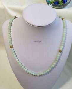 Certifie grade A green+yellow 5-6mm beads jadeite jade necklace L50cm