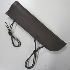 double bass bow quiver , leather , dark chocolate brown SAME DAY UK SHIPPING