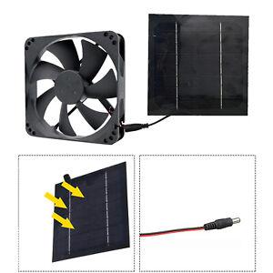 Solar Panel Powered Fan Mini Ventilator Air Extractor for Greenhouse Pet Dog