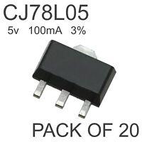 20x CJ78L05 SOT-89 5V 100mA 3% Positive Voltage Regulator 7805 L7805 LM7805