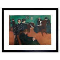 Painting Edvard Munch Death In The Sickroom Framed Art Print Poster 12x16 Inch