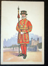 The Yeomen Of The Guard    Tower of London    Vintage Military Uniform Card