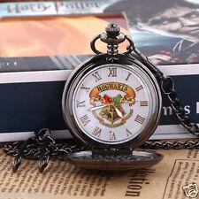 Harry Potter Hogwarts School Badge Quartz Pocket Watch Chain