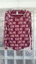 EUC VICTORIAS SECRET Pink Burgundy Sleepshirt/Long Sleeve Tee Sz  L