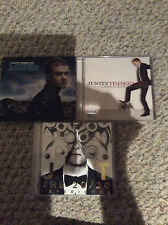 Justin Timberlake CDs Justified, FutureSexLoveSounds, and the 20/20 Experience