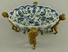 One Bowl IN Blue/White With Angels Figurines From Porcelain And Brass 122.083BL