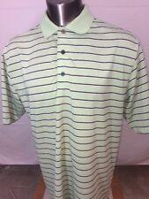 FootJoy Green Striped Golf Shirt Polo Size Large