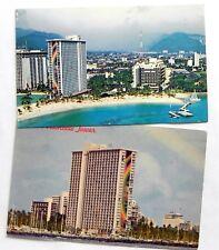 Hilton Hawaiian Village, Rainbow Tower Hotel Hawaii  2 Postcards D865
