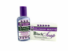 Hollywood Beauty Dry Scalp & Skin Therapeutie Oil 2oz + Free Black Soap