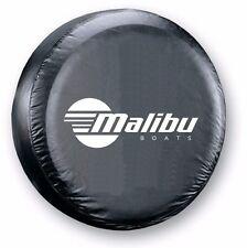 Malibu Boats Spare Tire Cover for Tire Size 215/75R14 - Heavy-Duty UV Fade Proof