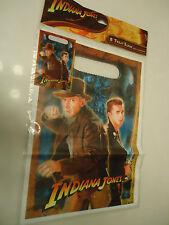 Indiana Jones Birthday Party Treat Loot Sacks Bags (8 in pkg) NEW 2008