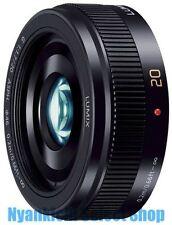 Panasonic LUMIX G 20mm f/1.7 II ASPH. H-H020A-K Lens Black from Japan