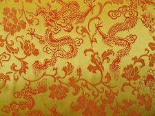 Dekostoff Drachen Gold / orange 150 cm breit Meterware
