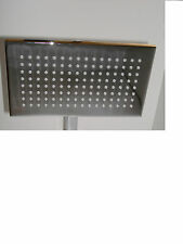 """SQUARE rettangolare 9"""" x 5.5"""" soffione della doccia, cromato e in ottone massiccio, 1/2"""", 074 girevole"""