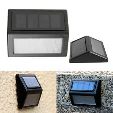 Solar Powered LED Light Wall Mount Outdoor Garden Path Landscape Fence Yard Lamp