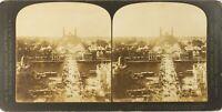 FRANCE Paris Exposition 1900 Palais Trocadéro Tour Eiffel, Photo Stereo PL62L2