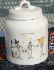 NEW - RAE DUNN Trick or Treat Skeleton Halloween Canister Cookie Jar