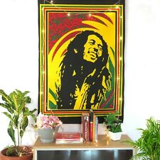 Indian Wall Hanging Cotton Poster Home Decor Tapestry Bob Marley Music Poster