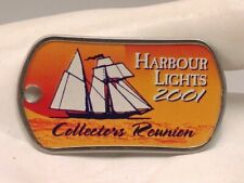 2001 Harbour Lights Collectors Society Collectors Reunion Lighthouse Dog Tag