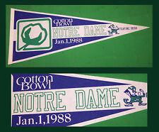 1988 University of Notre Dame Fighting Irish Football Pennant! Cotton Bowl!