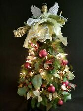 "31"" Lighted Christmas Tree with Angel on Top"