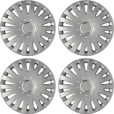 New 4pc SILVER LACQUER ABS Hub Caps for Wheel Cover Caps 14' Set