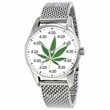 """""""4:20"""" Is The Time At Every Hour On The Cannabis Dial Of The Large Stoners Watch"""