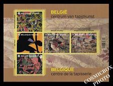 Bloc 5 timbres Belges Centre de la TAPISSERIE Belgique planche 2015 Yoors NEUF