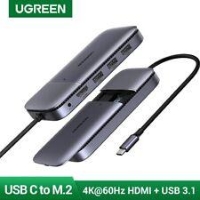 UGREEN USB C HUB Splitter Type C 3.1 to HDMI Adapter 4K 60Hz M.2 B-Key 10Gbps