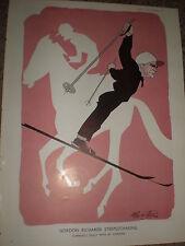 Jockey Gordon Richards By Robert Stewart sherriffs 1949 impresión REF K