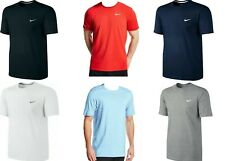 Nike Mens Casual Short Sleeve T Shirt Swoosh Classic Crew Neck Top Cotton Tee