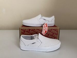 Vans- Asher (Perf Leather) White (Size Uk 6.5)
