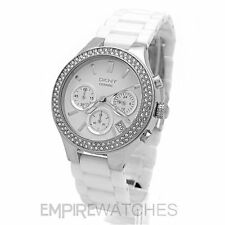 Ceramic Strap Wristwatches with Chronograph DKNY