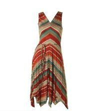Lauren Ralph Lauren 1755 Womens Jersey Striped Sleeveless Casual Dress Sz M